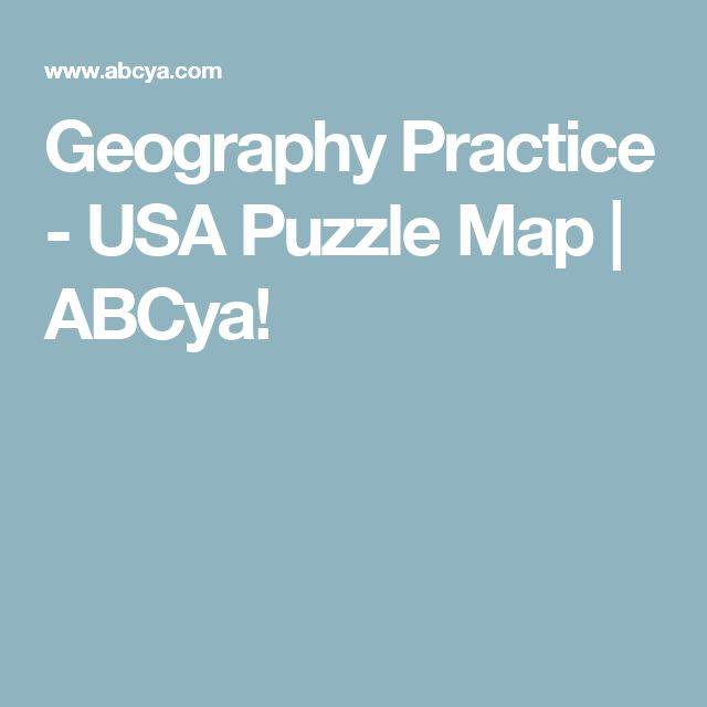 Geography Practice - USA Puzzle Map