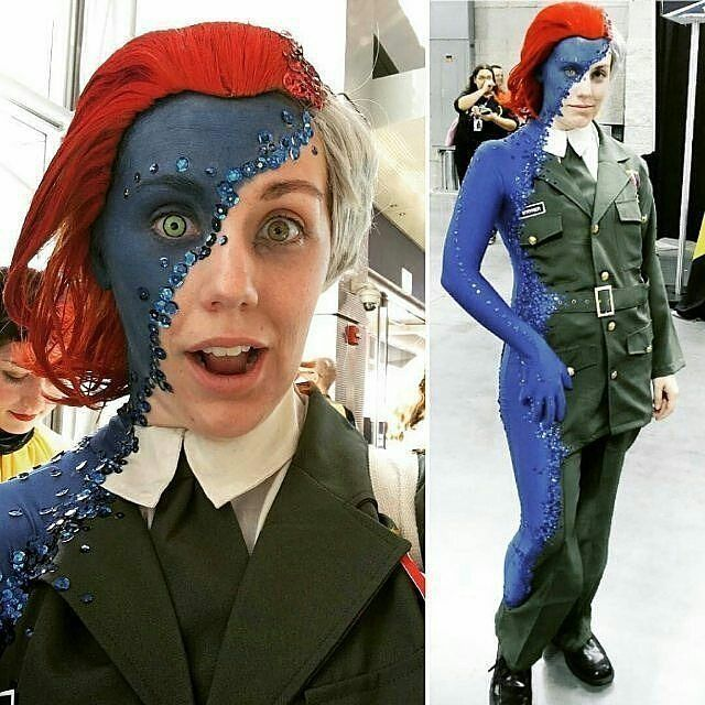 """The BEST Mystique cosplay EVER!!! by Rebecca Lindsay on Facebook!!!!"" Via @bigtime_gamerlife _ #mystique #cosplay #awesome #badass #cool #wow #amazing #cosplayer #xmen #wolverine #avengers #spiderman #deadpool #ironman #comics #marvel #mutant #mcu #xmenapocalypse #marvelcosplay #cosplaygirl #cosplaygirl #makeup #geek #dedication #Regrann"