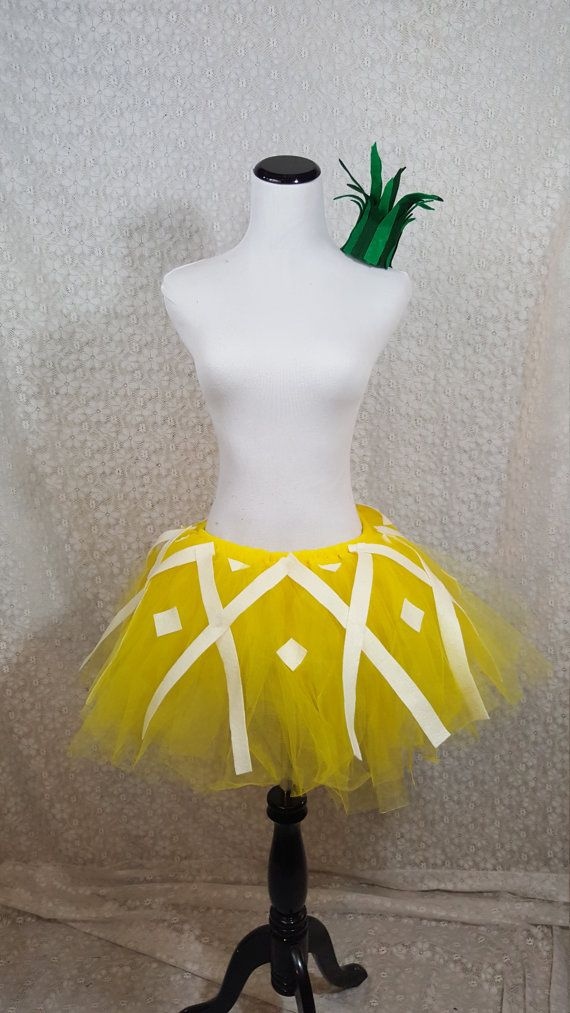 Pineapple Tutu Set ADULT Pineapple Costume Fruit by pearlsandtulle