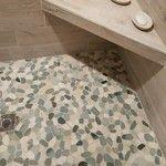 Sliced Sea Green and White Pebble Tile - Pebble Tile Shop