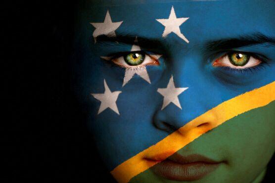 Solomon Islands Flag Boy