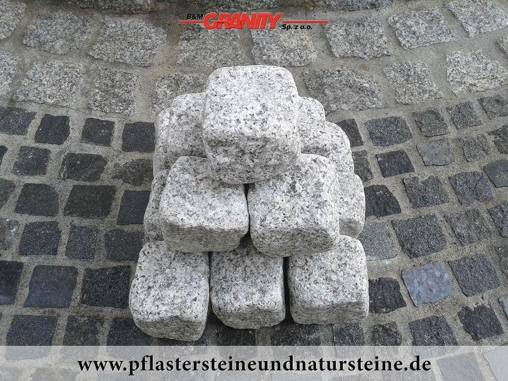 """Firma B&M GRANITY - graue Pflastersteine aus polnischem Granit, frostbeständige Granit-Pflastersteine ohne scharfe Kanten, getrommelt, rustikal, veraltet...Polengranit, """"Salz und Pfeffer"""" http://www.pflastersteineundnatursteine.de/fotogalerie/pflastersteine/"""