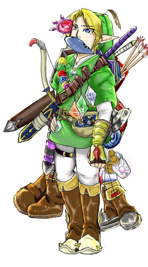 If Link really carried all that stuff around.  No wonder they made an item check in Skyward Sword.