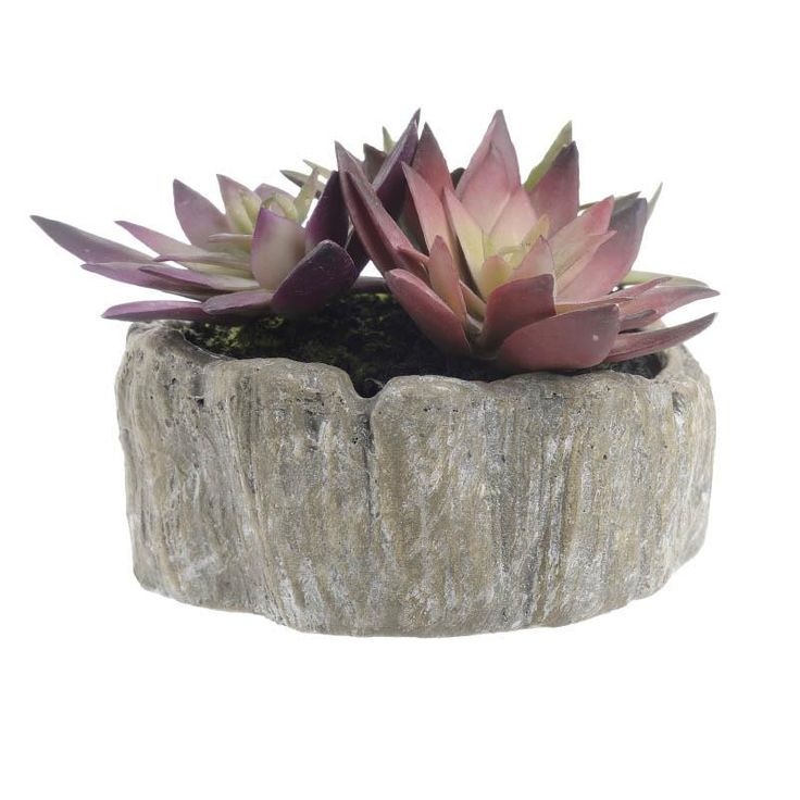 Pot With Plant - inart