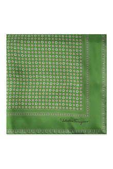 FERRAGAMO Mini-flower silk pocket square