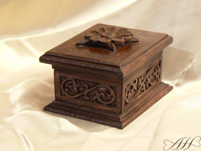 Little wooden carved box