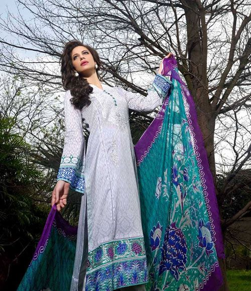 Gohar Embroidered Lawn Suits Collection G_07