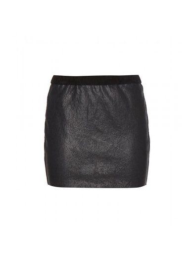 'Diamon black leather skirt By Isabel Marant'