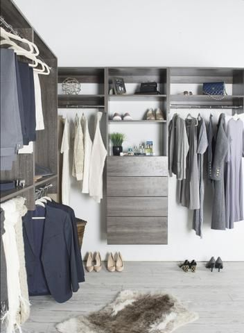 Modular Closets – looks like very good quality for the cost. And it comes in grey. :)