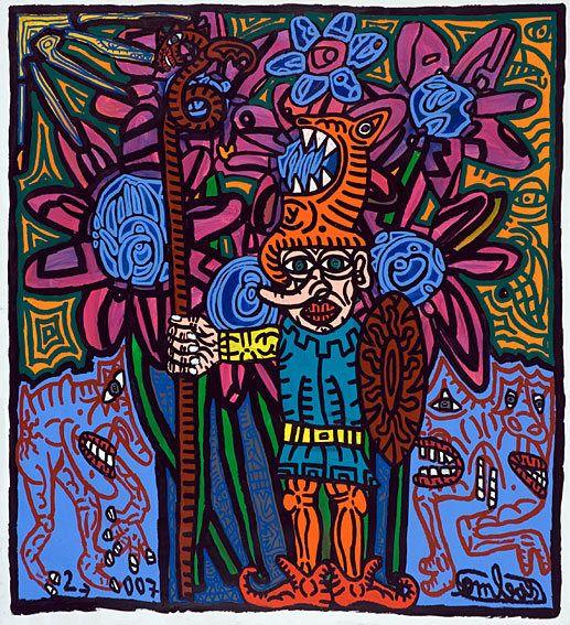 Oeuvres fleuries de Robert Combas http://www.pariscotejardin.fr/2015/10/oeuvres-fleuries-de-robert-combas/