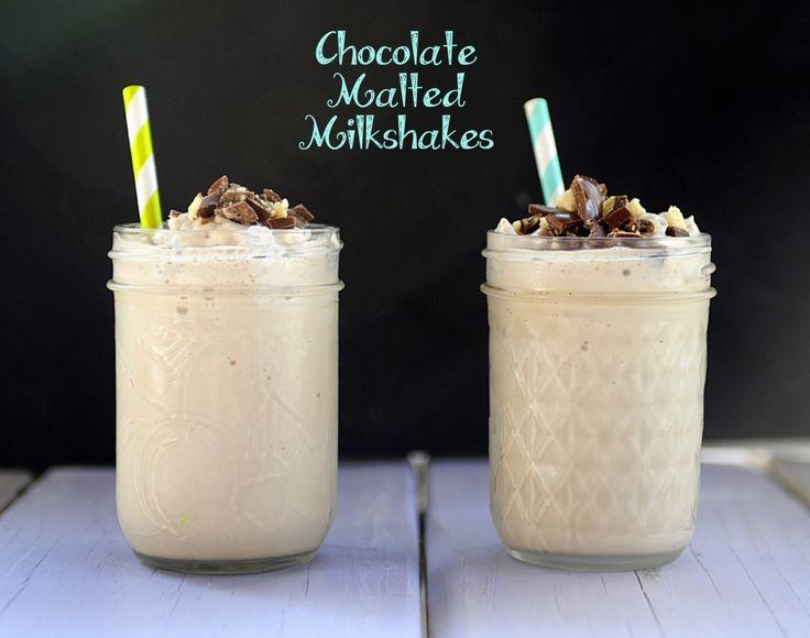 Chocolate Malted Milkshakes | Mason Jar and Mason Jar Mug Ideas | Pin ...