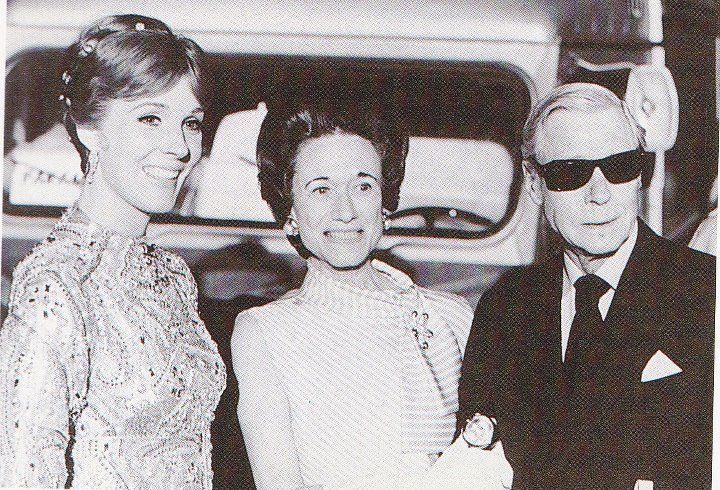 The Duke and Duchess of Windsor, with Julie Andrews.