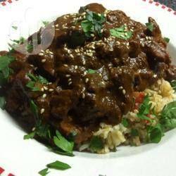 Photo de recette : Poulet en sauce mole, à la mijoteuse