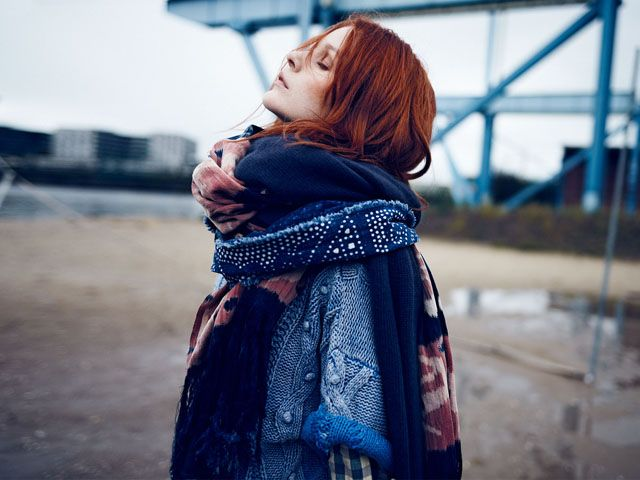 so inspired and in love with Scotch & Soda's denim wash knits. via @HonestlyWTF: Red Hair, Blue Scarves, Big Scarves, New Hair Colors, Fall Fashion, House Scotch, Scotch Sodas, Red Head, Fall Essential