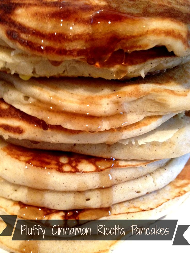Fluffy Cinnamon Ricotta Pancakes - melt in your mouth from scratch ...