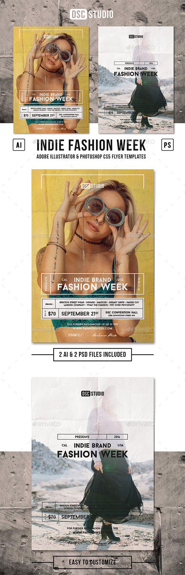 Fashion Week Indie Flyer — Photoshop PSD #stylist #poster • Available here → https://graphicriver.net/item/fashion-week-indie-flyer/17417598?ref=pxcr
