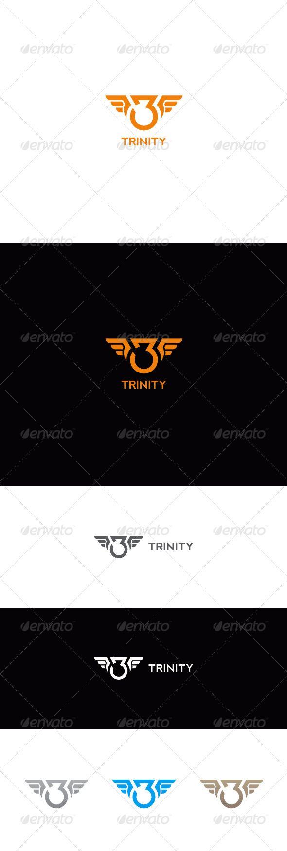 Number Three Logo   Trinity - Numbers Logo Templates