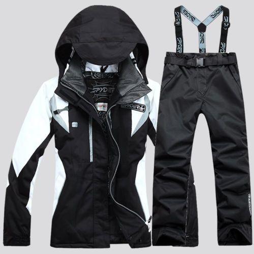 New Winter women's black snowboarding suit Jacket Coat+Pants snowboard Clothing set