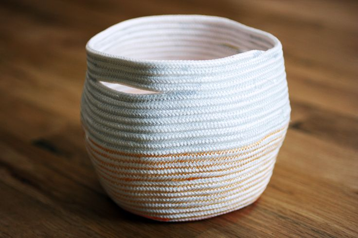 How To Weave A Basket With Rope : Best images about diy boxes and baskets on