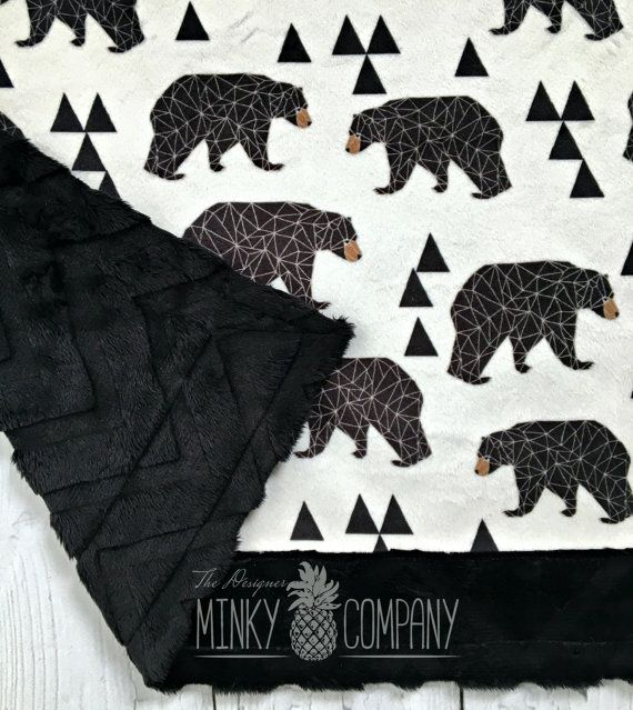 Hey, I found this really awesome Etsy listing at https://www.etsy.com/listing/246254605/bear-blanket-geometric-bear-designe
