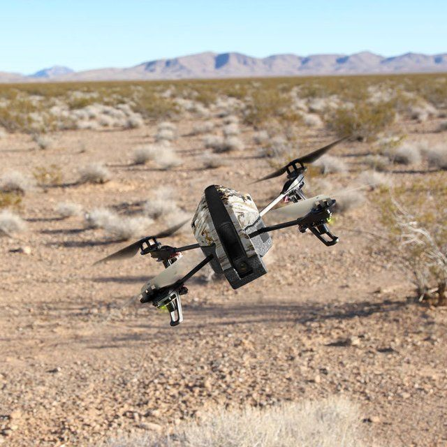 Parrot AR.Drone 2.0 Quadricopter – Elite Edition / The Parrot AR.Drone 2.0 Quadricopter Elite Edition is a powerful drone equipped with a video camera that records and shows you everything it sees while in-flight. http://thegadgetflow.com/portfolio/parrot-ar-drone-2-0-quadricopter-elite-edition-300/