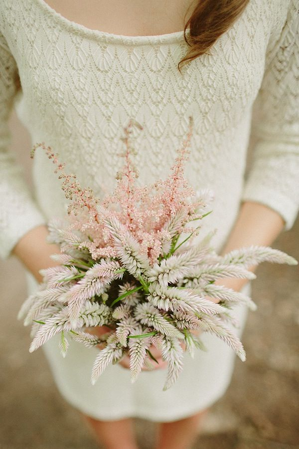 astilbe wedding bouquet | Robin Hood inspired wedding | With Love & Embers Photography | Bridal Musings