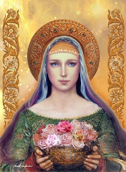 Mother Mary - Mystic Rose by Claudio Gianfardoni