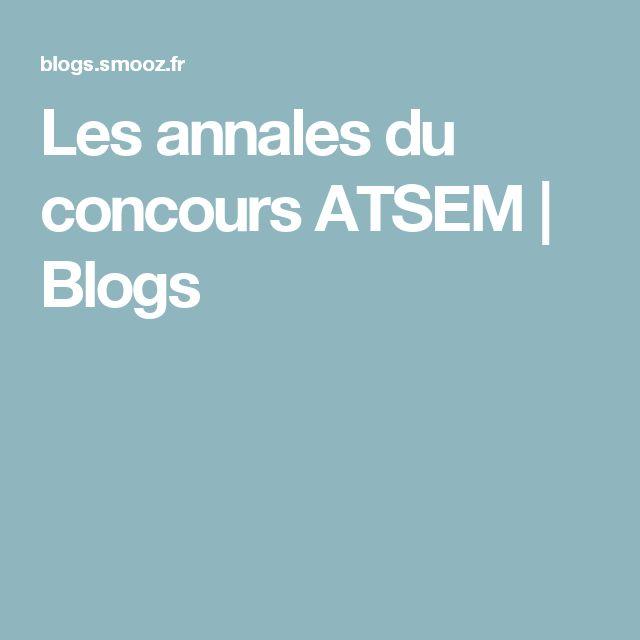 Les annales du concours ATSEM   Blogs
