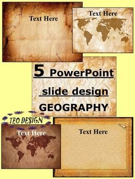 Geographic maps- VINTAGE PowerPoint slide designThis product includes 5 PowerPoint slide designThis  design can be used as a PowerPoint to add all of your own text or print the slides to create an attractive geographic- themed word wall!The zip file contains: 5 PowerPoint slide design- 45 pagesPerfect design, ideal for classroom use for any age.Enjoy!***************************************Editable PowerPoint Ladybugs- 3 PowerPoint slide design    SPRING- PowerPoint slide design   BUTTERFLY…