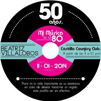 Invitación 50 Años Beatriz on Behance