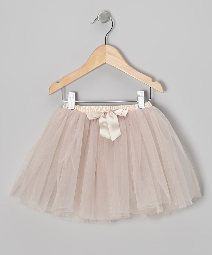 Ivory Bow Tutu - Toddler & Girls | zulily