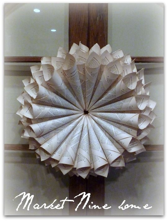 love this wreath created out of an old book..great how-to instructions!