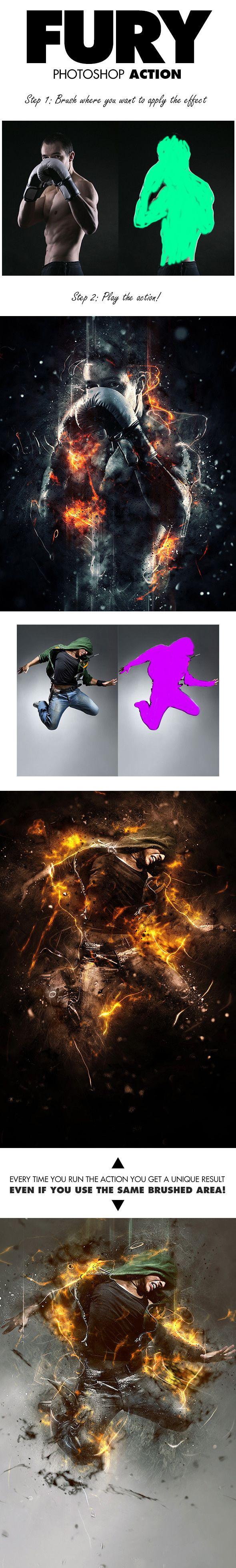 7-Fury Photoshop Action