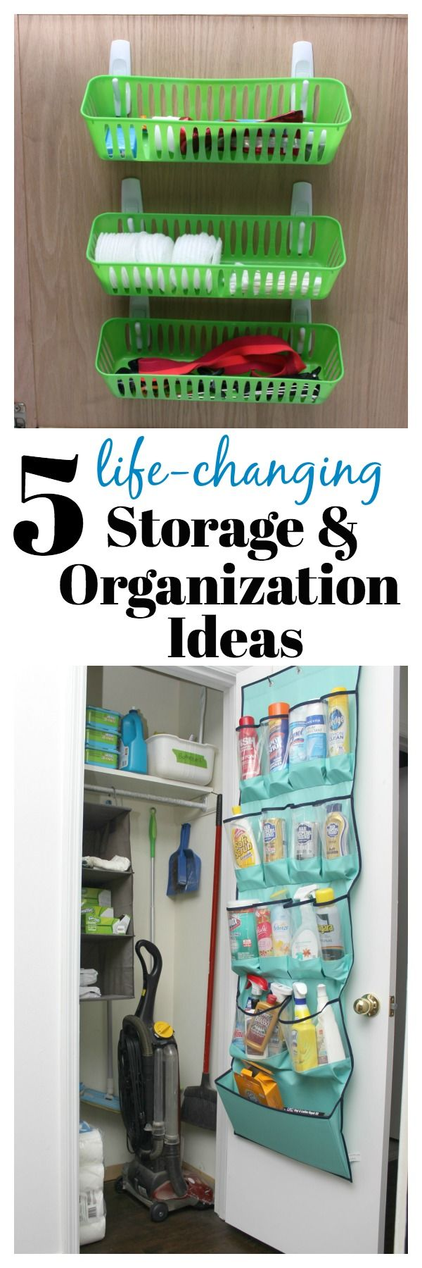 Simple Storage and Organization Ideas for the Home | Storage Ideas | Storage Solutions | Organization Ideas for Home Clutter via @rainonatinroof