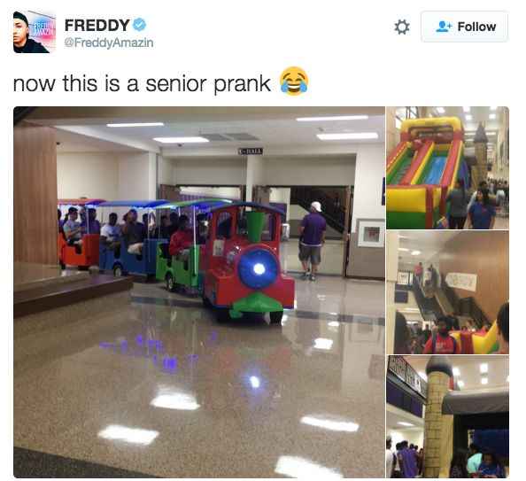 The seniors who turned their school into a fun factory: | The 9 Absolute Best Senior Pranks From The Class Of 2016