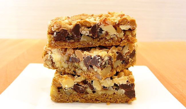 Wonderbars: Yummy Yummy, Cookies Barsbrowni, Sweet Treats, Bar Recipe, Bar Cakes, 7Layer Bar, 7 Layered Bar, Baking Recipe, Seven Layered Bar