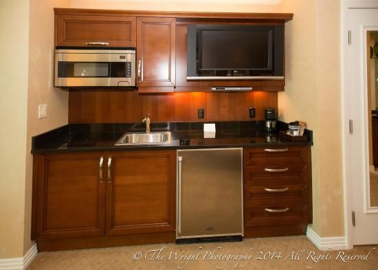 Complete kitchenette with Sub-Zero, Miele, and Bosch appliances ...