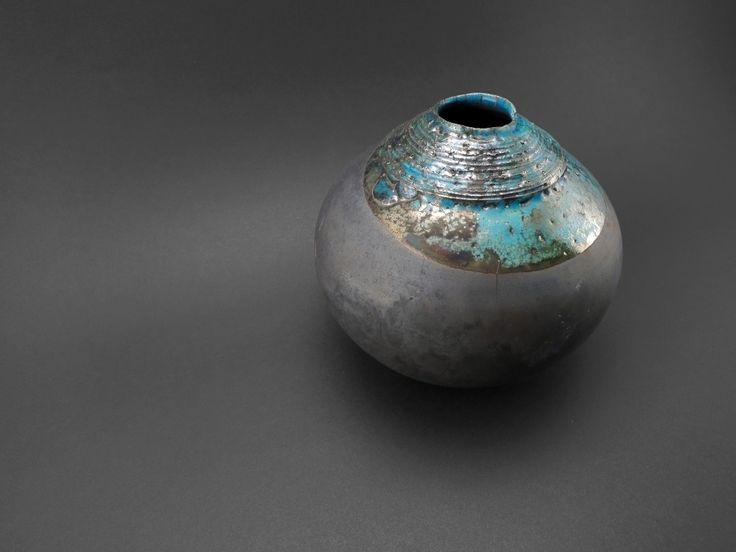 Aquamarine: Whispering Globe - Ildikó Károlyi #ceramics #raku #design