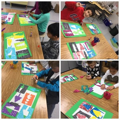Abstract Evergreen Collage, 2nd grade