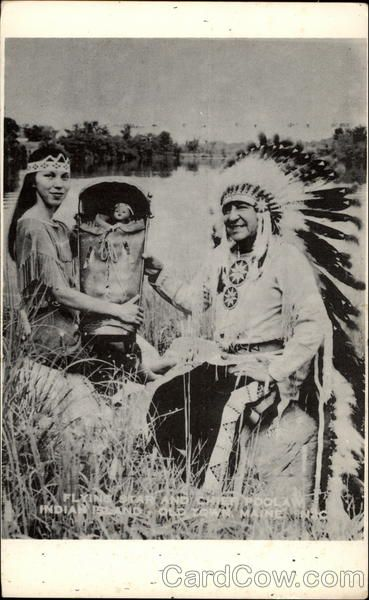 Penobscot Indian Island Reservation | Flying star and Chief Poolaw Indian Island Maine Native Americana