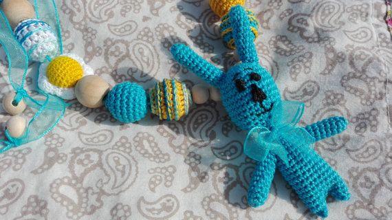 Sling necklace Necklace for nursing Nurs necklace  от OmGanchillo