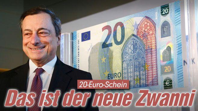 EZB-Chef Draghi stellt neuen 20-Euro-Schein vor http://www.bild.de/geld/wirtschaft/euro/ezb-chef-draghi-stellt-neuen-20-euro-schein-vor-39903190.bild.html