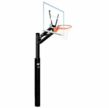 679 free gift certificate the bison all conference adjustable basketball hoop featuring qwik change pole - In Ground Basketball Hoop