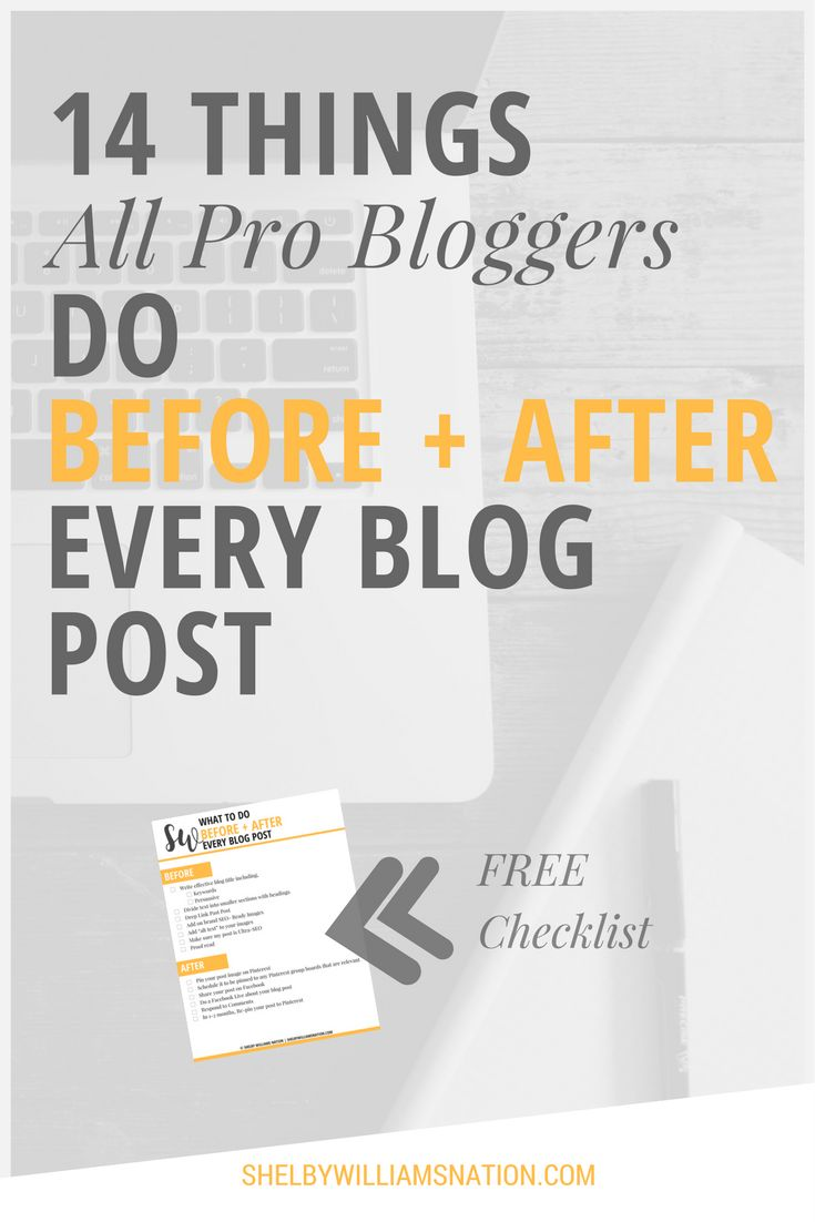 Like any blogger, when I write a great post, I want to make sure that I get as much value as possible from that hard work... Find out 14 things you should do before and after publishing your blog post plus FREE checklist to download and use for every post!
