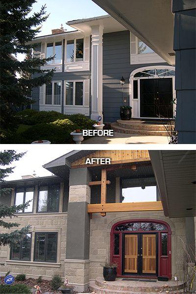 Exterior renovation in the Calgary community of Lake Bonaventure  www.channelcustombuilders.com