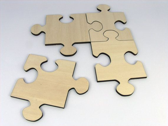 Plywood Jigsaw Puzzle Coasters set by InvenioCrafts on Etsy, €14.00