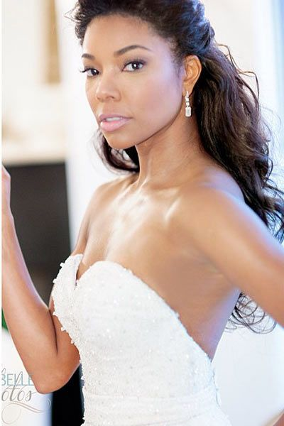 Gabrielle Union's Dennis Basso wedding gown Need to figure out how to get this neckline and back support.