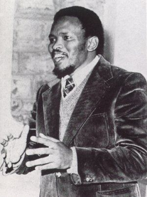 Bantu Steven Biko (1946 - 1977)South African Black Leader. Biko founded the Black Consciousness Movement, the South African Students' Organization, the Black People's Convention and the Zimele Trust, to help fund aid for the families of political prisoners in South Africa.