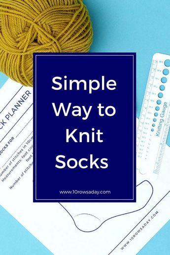Maneira simples de tricotar meias em qualquer tamanho | 10 linhas por dia