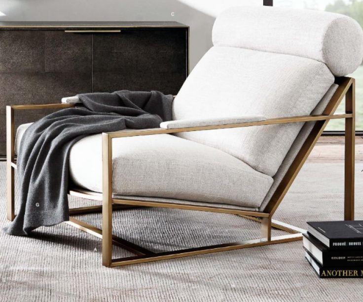 Milo Baughman #3418 Chair, $4695, Restoration Hardware,  Www.restorationhardware.com
